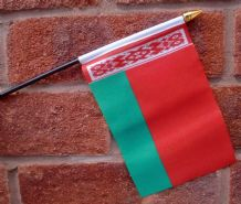 HAND WAVING FLAG (SMALL) - Belarus
